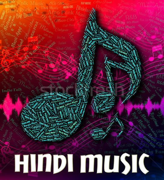 Hindi Music Represents Sound Tracks And Hindustani Stock photo © stuartmiles