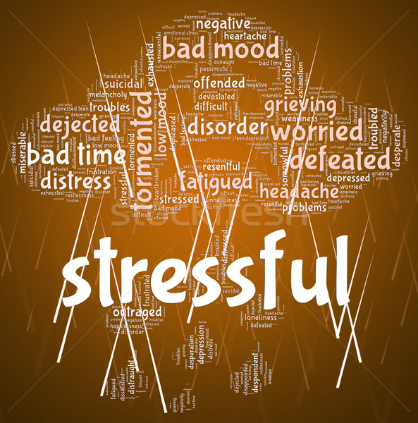 Stressful Word Means Overload Text And Wordclouds Stock photo © stuartmiles