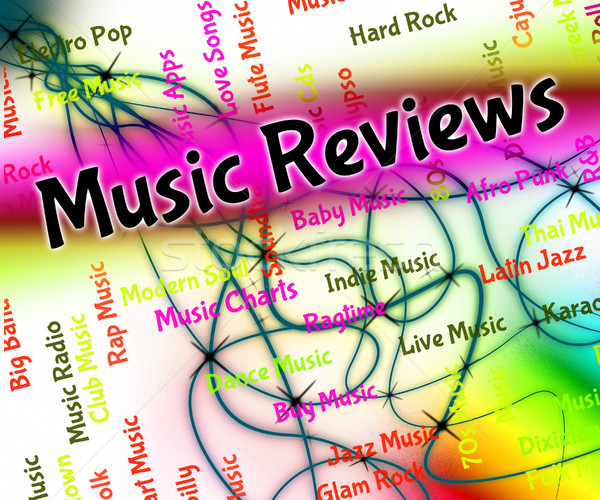 Music Reviews Shows Sound Track And Assess Stock photo © stuartmiles