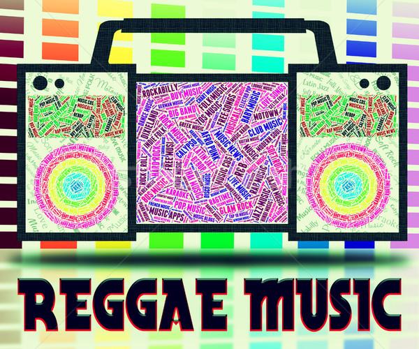Reggae música soar seguir Áudio cantando Foto stock © stuartmiles