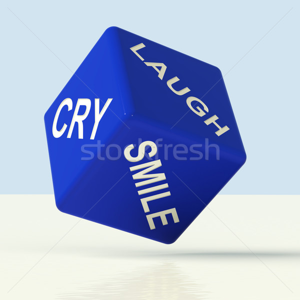 Laugh Cry Smile Dice Representing Different Emotions Stock photo © stuartmiles