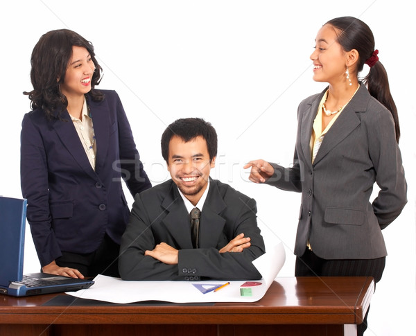 Happy And Smiling Co Workers Stock photo © stuartmiles