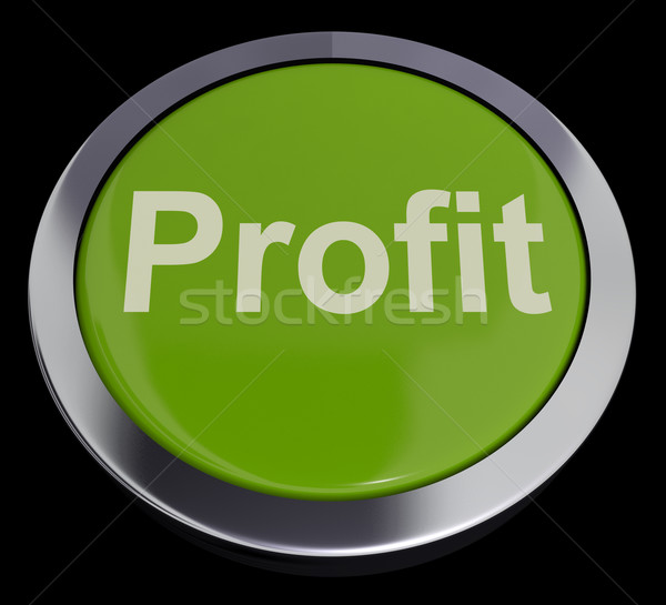 Stock photo: Profit Computer Button In Green Showing Earnings And Investment