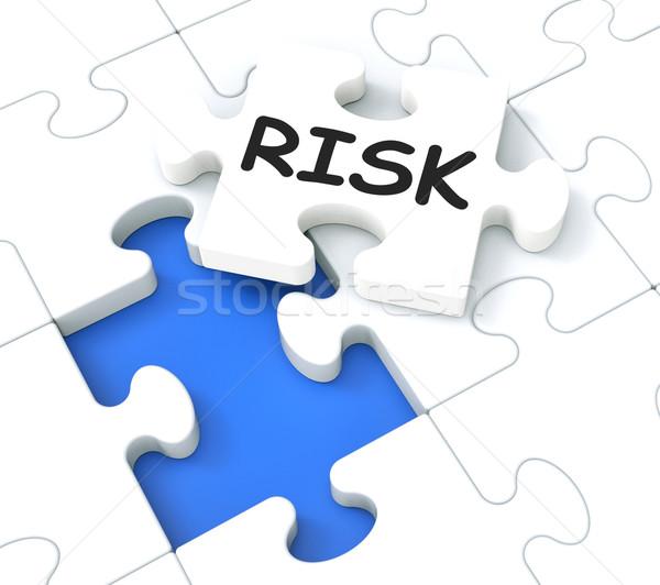 Risico puzzel tonen monetair crisis Stockfoto © stuartmiles