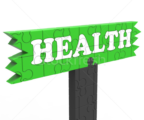 Health Sign Shows Healthcare Wellbeing Condition Stock photo © stuartmiles