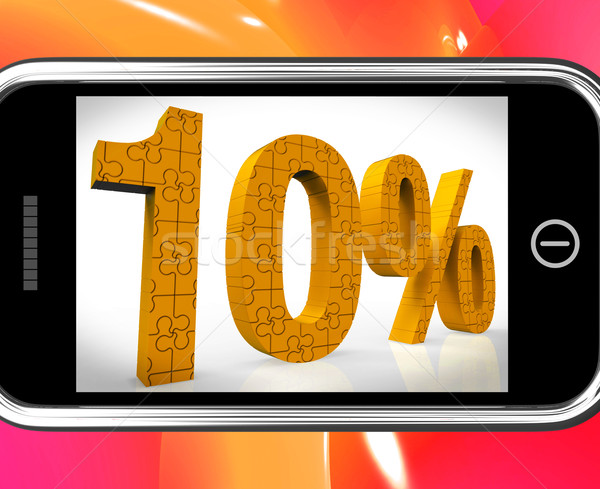 10 On Smartphone Showing Cheap Products And Price Deals Stock photo © stuartmiles
