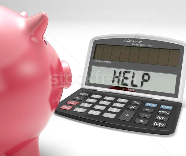 Segítség számológép megtakarított pénz költségvetést készít mutat tanul Stock fotó © stuartmiles