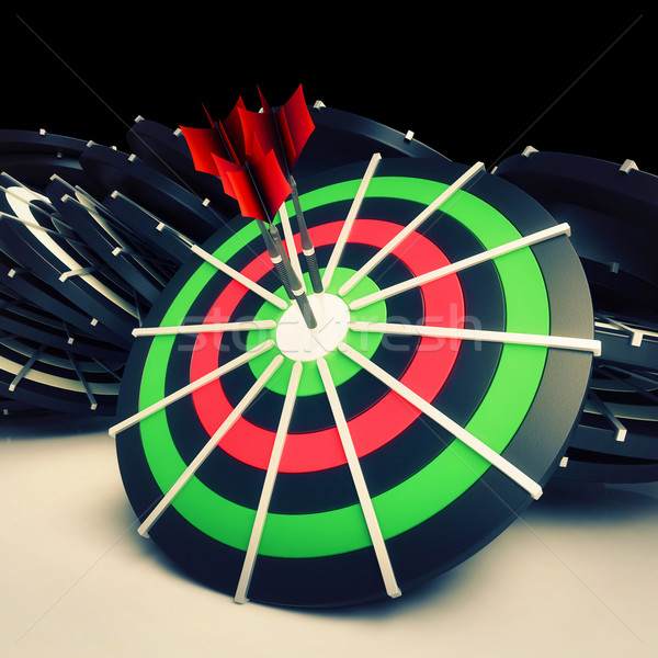 Target Goal Shows Excellence In Business Stock photo © stuartmiles
