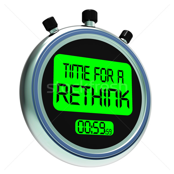 Time For A Rethink Meaning Change Strategy Stock photo © stuartmiles
