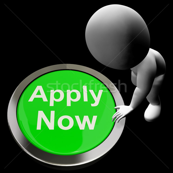 Apply Now Button For Work Job Application Stock photo © stuartmiles