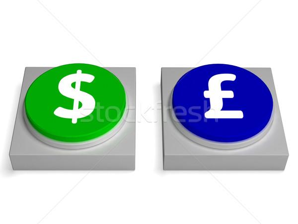 Dollar borden forex buitenlands uitwisseling tonen Stockfoto © stuartmiles