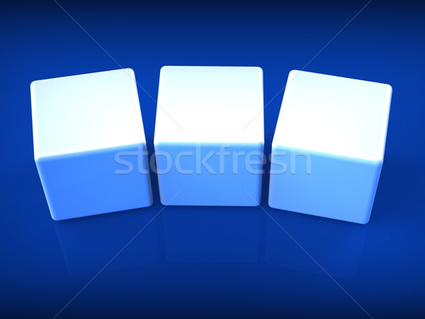 Three Blank Dice Show Copyspace For 3 Letter Word Stock photo © stuartmiles