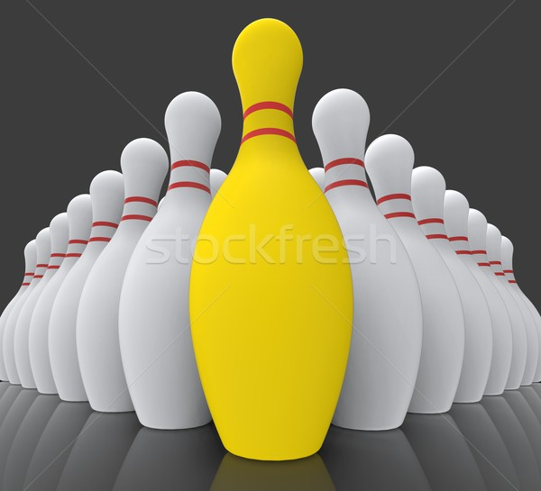 Vision Bowling Skittles Showing Achieving Stock photo © stuartmiles
