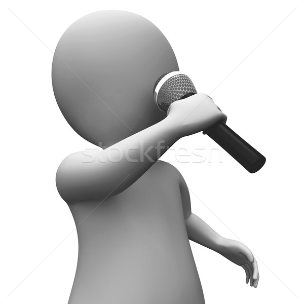 Cantante cantando música karaoke talento concierto Foto stock © stuartmiles