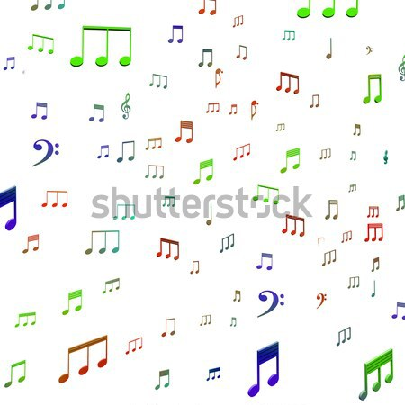 Speaker And Musical Notes Shows Music Acoustics Or Sound System Stock photo © stuartmiles