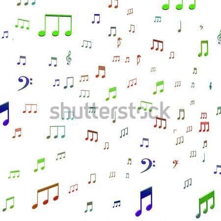 Konuşmacı müzik notaları müzik akustik ses Stok fotoğraf © stuartmiles