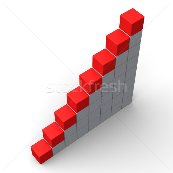 Eight Blank Steps Show Copy Space For 8 Letter Word Stock photo © stuartmiles