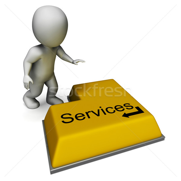 Services Button Shows Assistance Or Maintenance Stock photo © stuartmiles