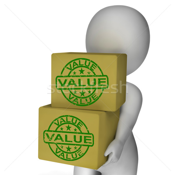 Value Boxes Show Product Quality And Worth Stock photo © stuartmiles