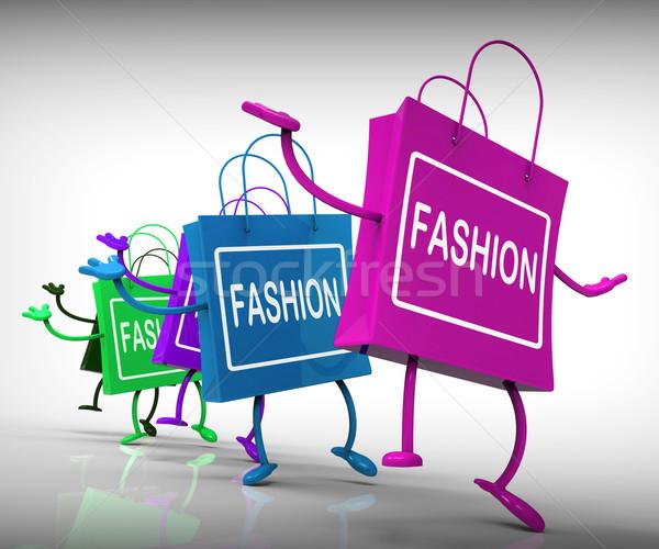 моде мешки Тенденции торговых Сток-фото © stuartmiles