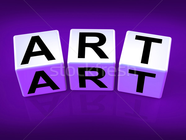 Art Blocks Indicate Painting Artwork Drawing and Graphics Stock photo © stuartmiles