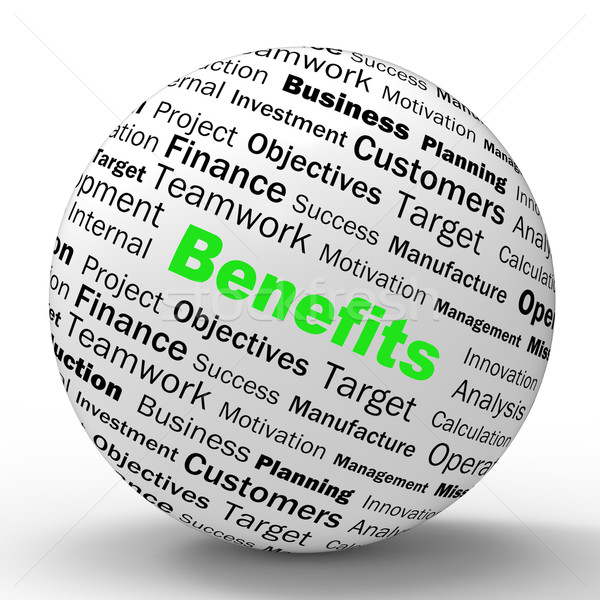 Benefits Sphere Definition Means Advantages Or Monetary Bonuses Stock photo © stuartmiles