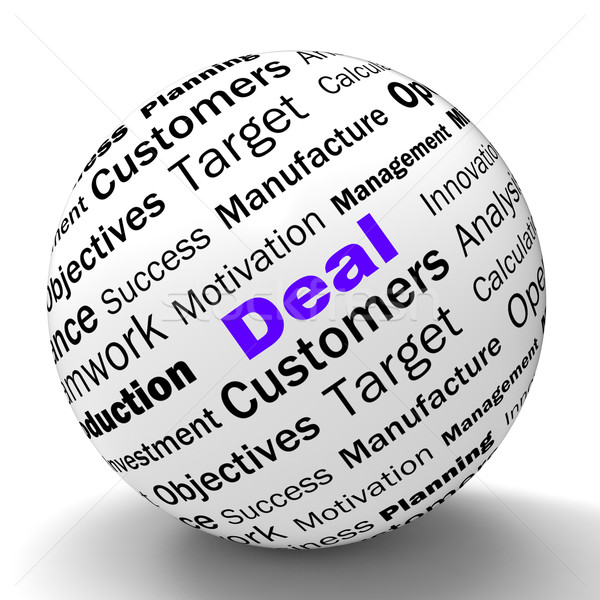 Deal Sphere Definition Shows Special Promotions Or Trades Stock photo © stuartmiles