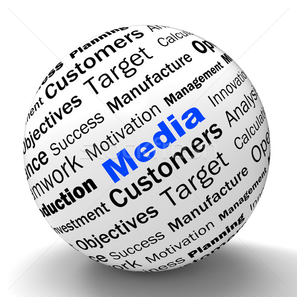 Media Sphere Definition Shows Diffusion Channels Or Online Media Stock photo © stuartmiles