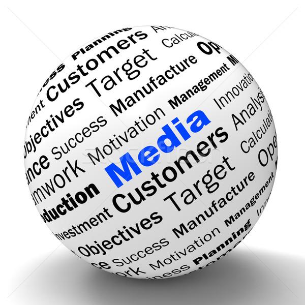 Média gömb meghatározás online mutat Stock fotó © stuartmiles