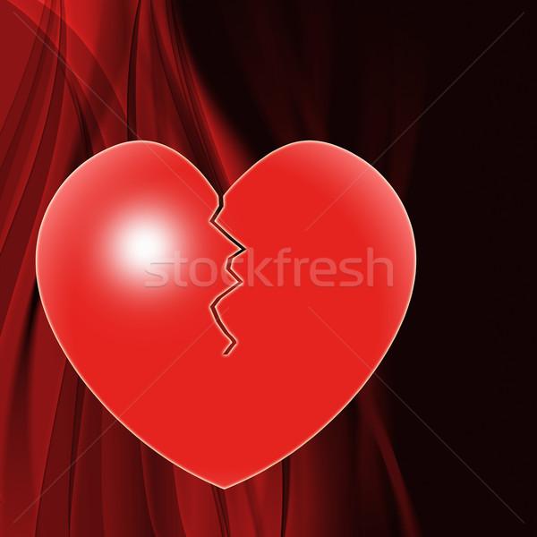 Złamane serce małżeństwa rozpad rozwód znaczenie podziale Zdjęcia stock © stuartmiles
