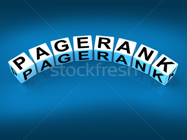 Pagerank Blocks Refer to Page Ranking Optimization Stock photo © stuartmiles