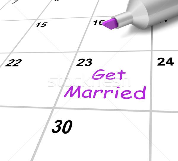 женат календаря свадьба супруга Сток-фото © stuartmiles