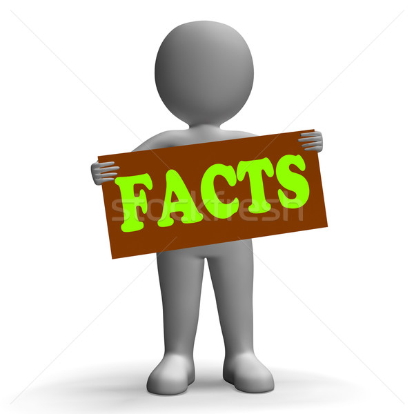 Facts Sign Character Shows True Reports And Details Stock photo © stuartmiles