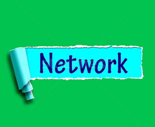 Network Word Means Online Connections And Contacts Stock photo © stuartmiles