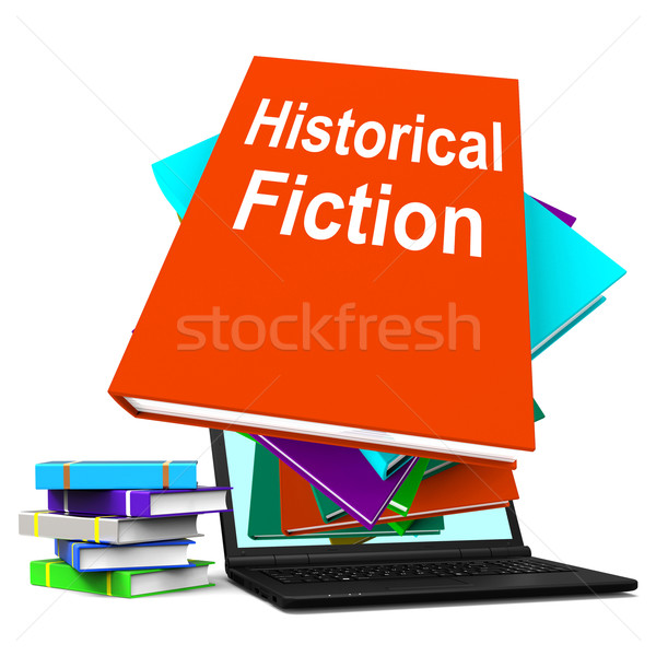 Historical Fiction Book Stack Laptop Means Books From History Stock photo © stuartmiles