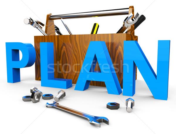 Make A Plan Indicates Ploy Tasks And Proposition Stock photo © stuartmiles