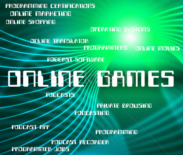 Online Games Indicates World Wide Web And Entertainment Stock photo © stuartmiles