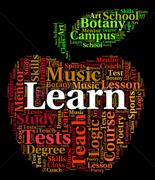 Learn Word Means Tutoring Text And Training Stock photo © stuartmiles