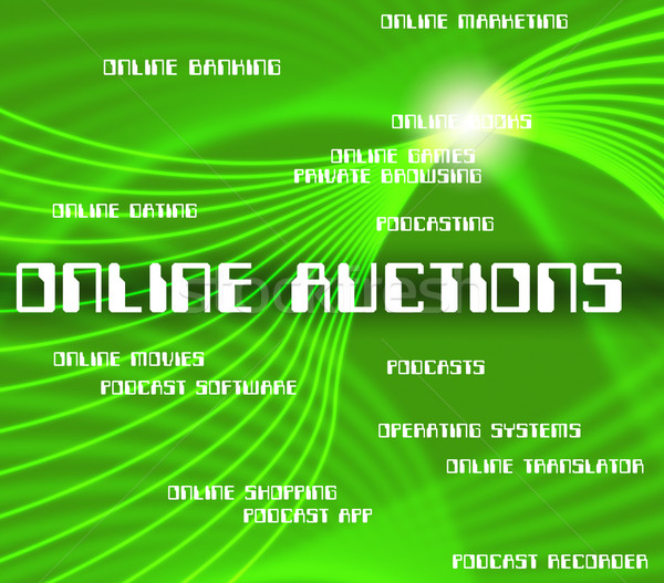 Online Auctions Shows World Wide Web And Websites Stock photo © stuartmiles