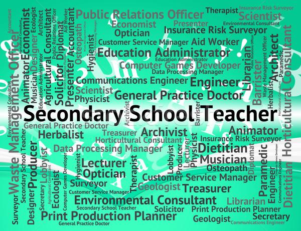 öğretmen sözler kıdemli okullar çalışmak Stok fotoğraf © stuartmiles