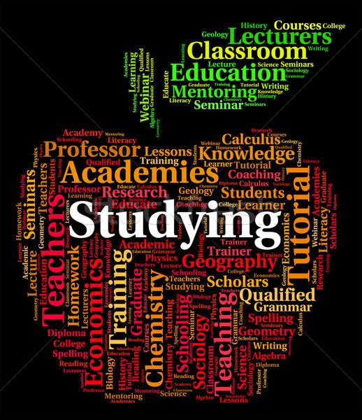 Tanul szó szavak tanult jelentés iskola Stock fotó © stuartmiles
