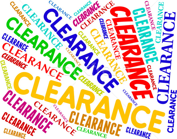 Clearance Word Indicates Promotional Closeout And Offers Stock photo © stuartmiles