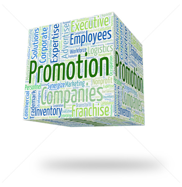 Stock photo: Promotion Word Means Offer Retail And Reduction