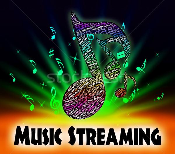 Musica in streaming suono brano acustico audio Foto d'archivio © stuartmiles