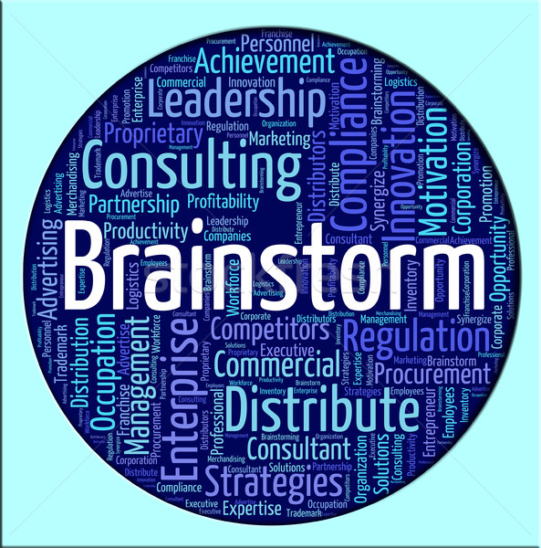 Brainstorm Word Shows Put Heads Together And Analyze Stock photo © stuartmiles