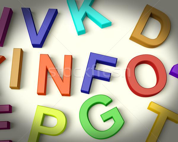 Foto stock: Información · escrito · plástico · ninos · cartas