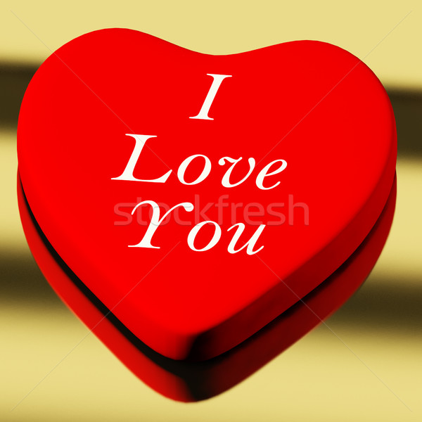 Red Heart With I Love You As Symbol For Valentines Day Stock Photo