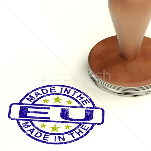 Foto stock: Carimbo · produto · produzir · europeu