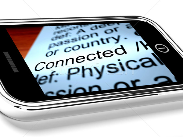 Definitie mobiele telefoon online verbinding telefoon Stockfoto © stuartmiles