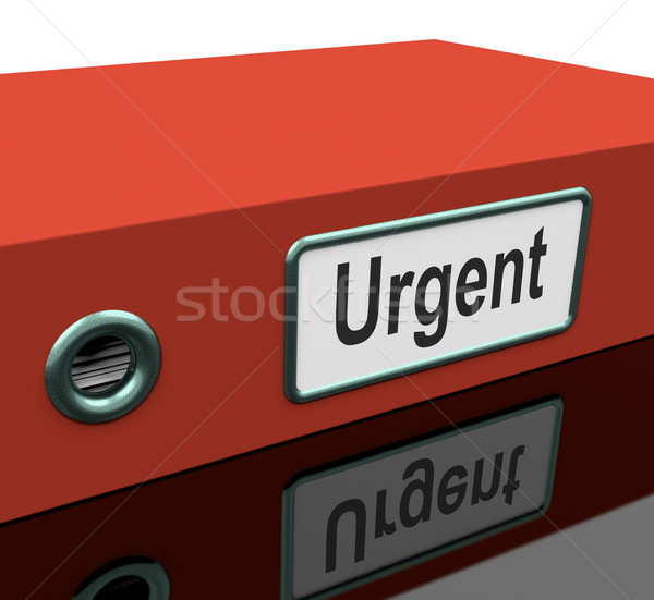 Urgent fichier documents priorité date limite Photo stock © stuartmiles